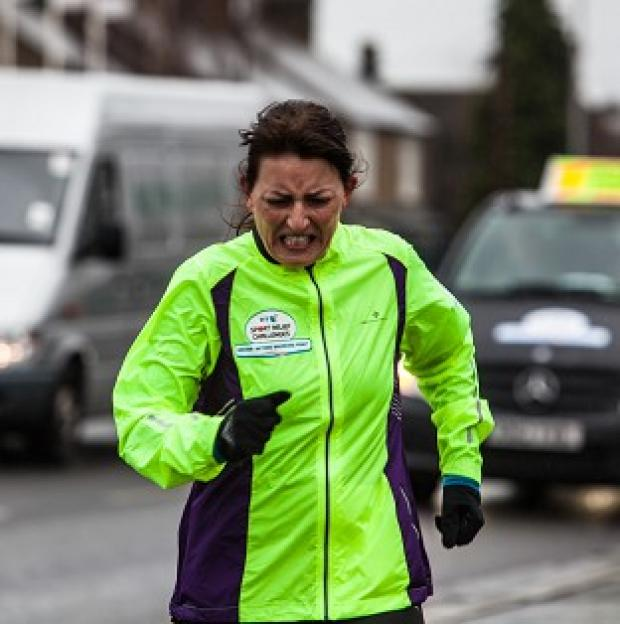 This Is Local London: Davina Mcall broke down in tears as she finished her Sport Relief Challenge