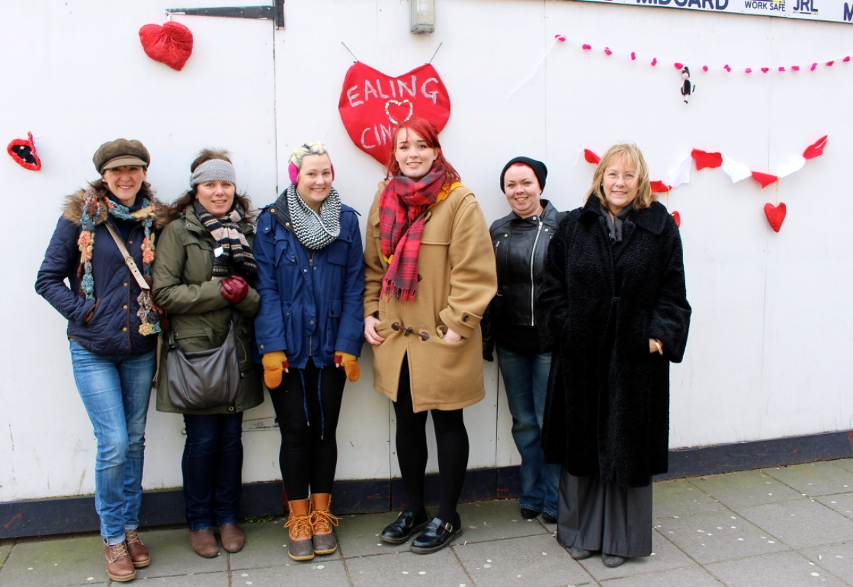 Ladylike protest: WI yarn-stormers at the Empire Cinemas site