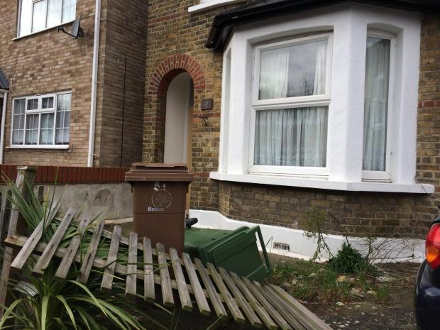 The house in Mill Lane where the bodies were found on Saturday