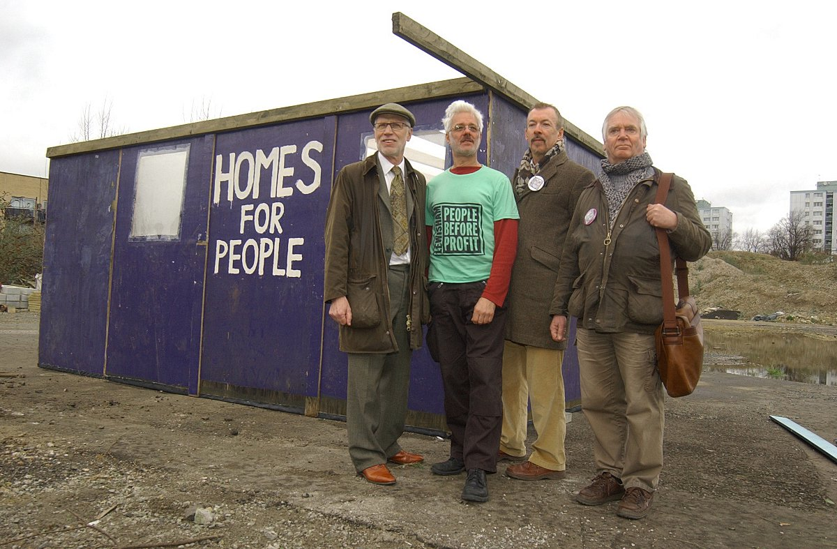 This Is Local London: L-R Lewisham People Before Profit's George Hallam, John Hamilton, Ray Woolford and Jim Smith.