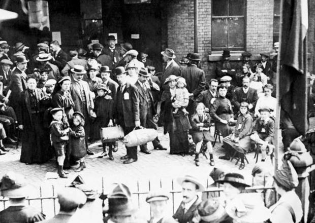 War stories: Belgian refugees arriving at Victoria station Credit: Imperial War Museum
