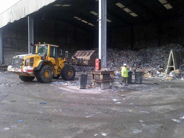 The reuse and recycling centre in Waldo Road, Bromley.