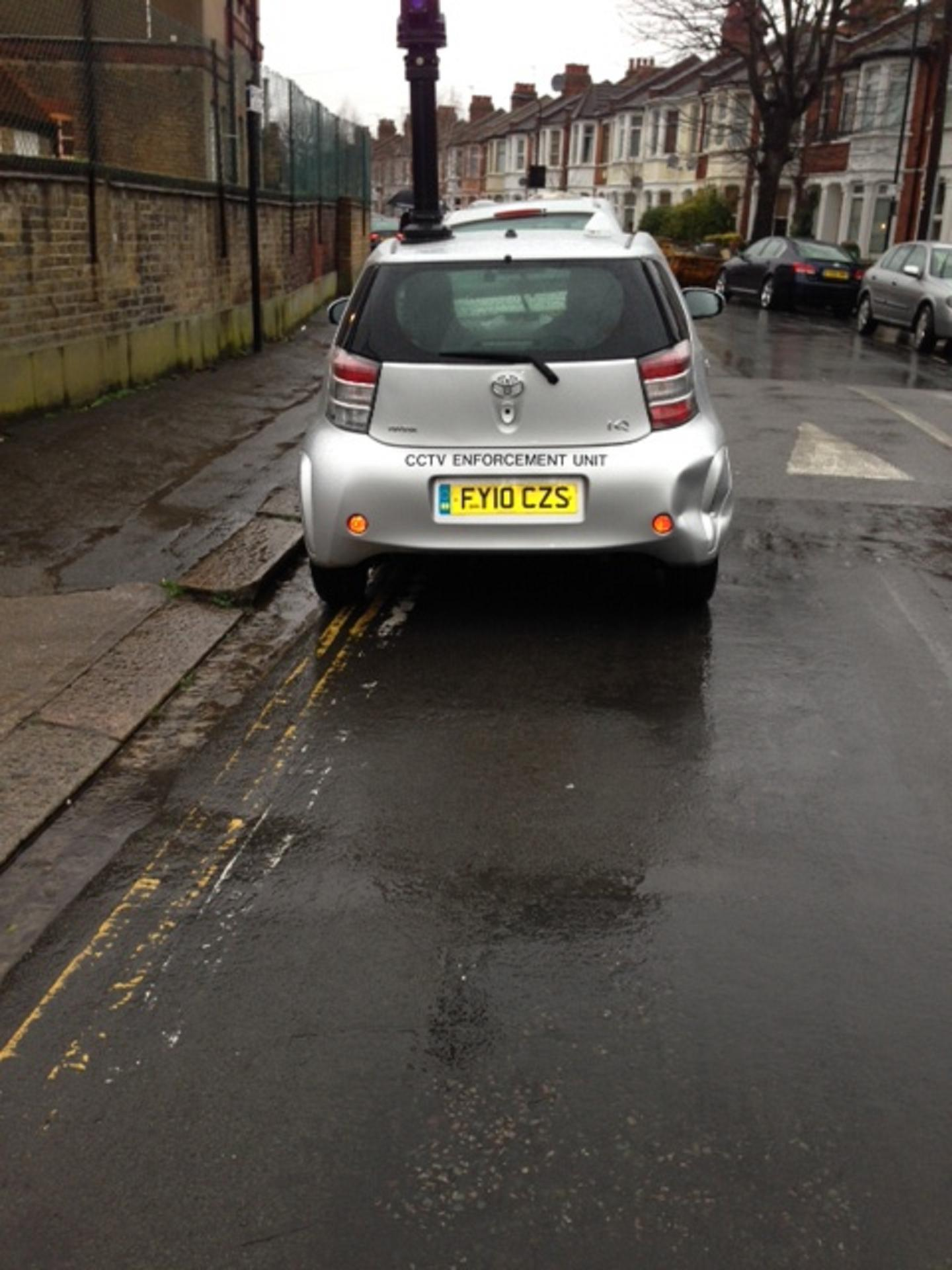 Council CCTV car snapped parking illegally