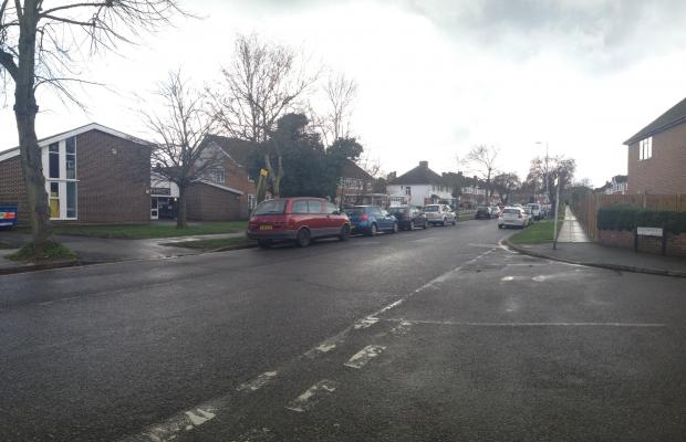 The area of The Manor Drive cordoned off by police after John Tulley's death