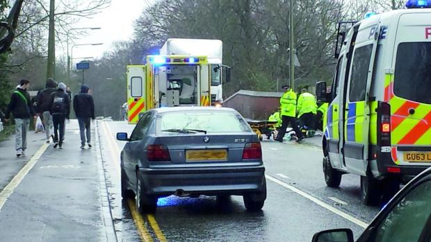 The scene of the crash in Reigate Road in Ewell on February 6