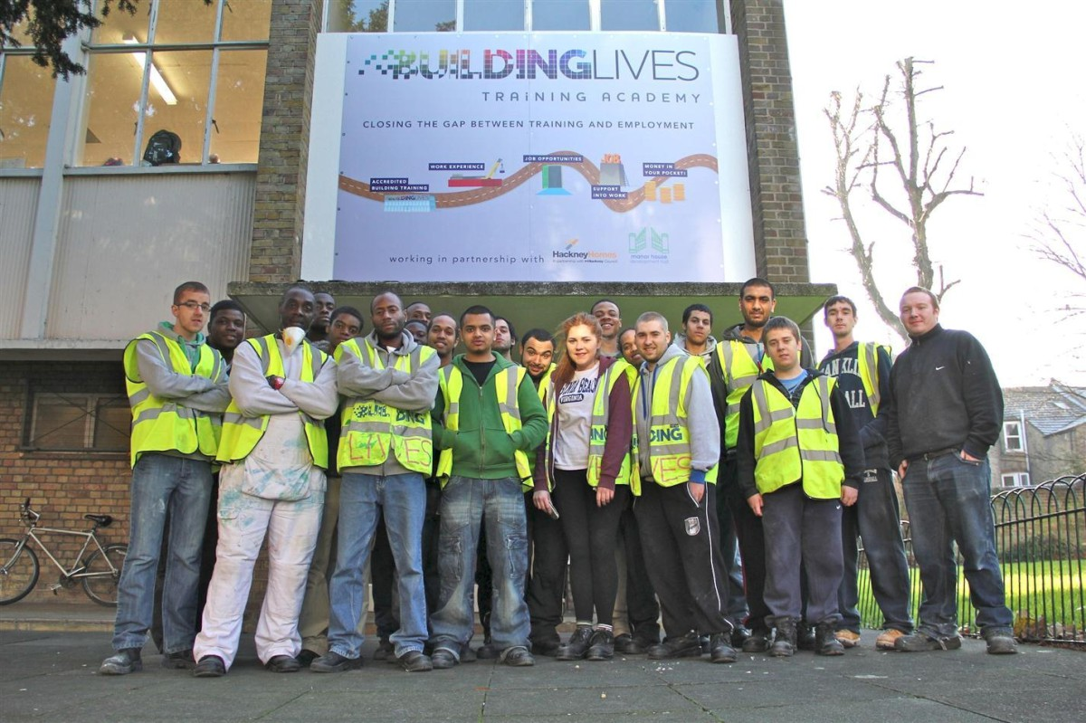 The Sutton Building Lives programme helps young unemployed people develop the skills needed for a career in construction