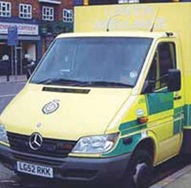 A man was taken to Lewisham Hospital for treatment