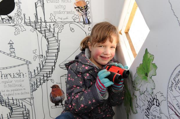 This Is Local London: Sophie Mauritz, six, in the hide