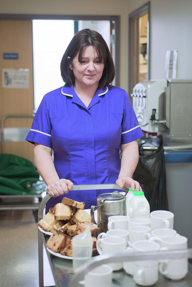 This Is Local London: Matron Kate Hudson on her tea round at Queen Elizabeth Hospital