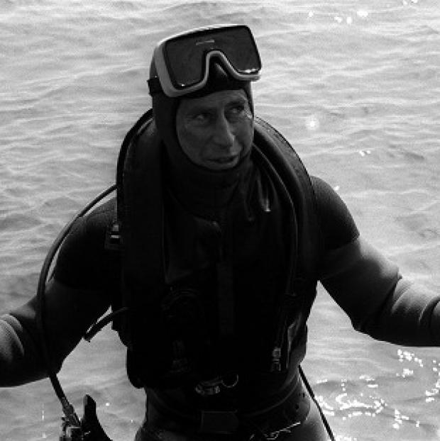 This Is Local London: The Prince of Wales surfaces after a dive to visit the wreck of the Mary Rose.