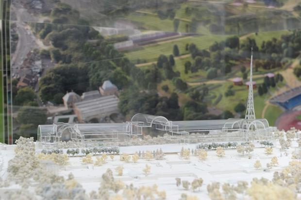 A model of what the rebuilt Crystal Palace could look like
