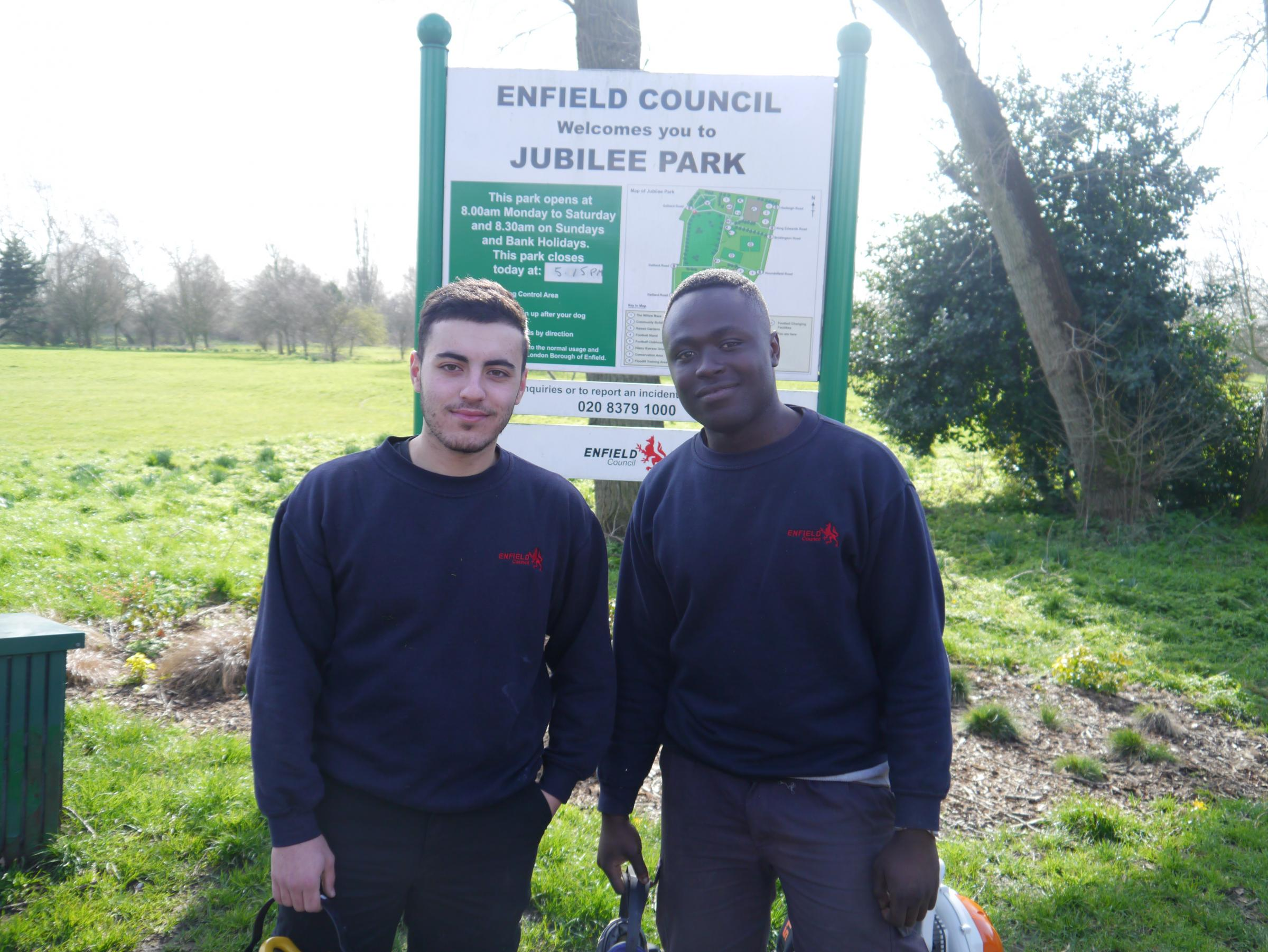 Michael Green and Eldad Anobah have benefited from the apprenticeship scheme