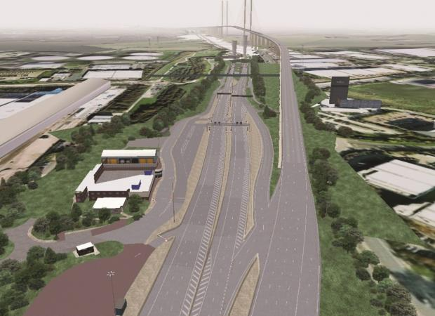 This Is Local London: This is how the Dartford Crossing will look once the tollbooths are removed.
