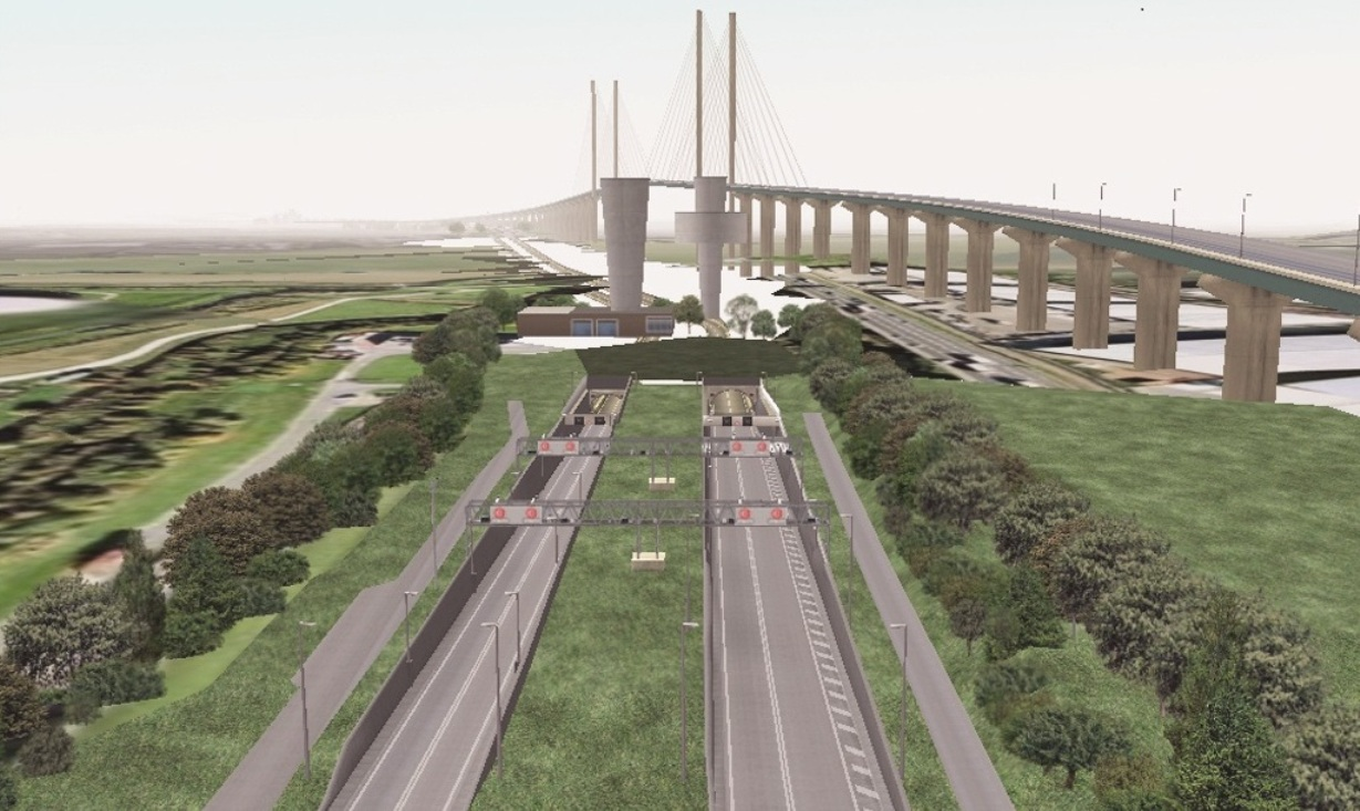 Work starts this week to install gantries for new Dartford Crossing payment system