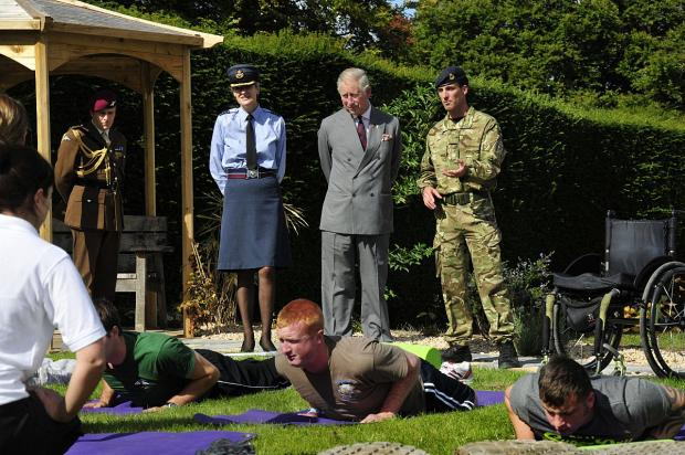 Prince Charles visited Headley Court to open the new Jubilee Rehabilitation Complex in 2012