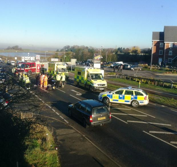 This Is Local London: PICTURED: Motorcyclist hurt after colliding with car near Swanley