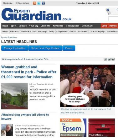 The Epsom Guardian's online audience has more than doubled in the last 12 months