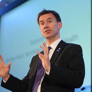 Jeremy Hunt says the NHS is 'on the cusp