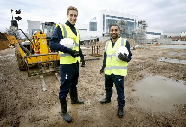 This Is Local London: Tottenham Hotspur stars Michael Dawson and Aaron Lennon visited the site of the Tottenham University Technical College