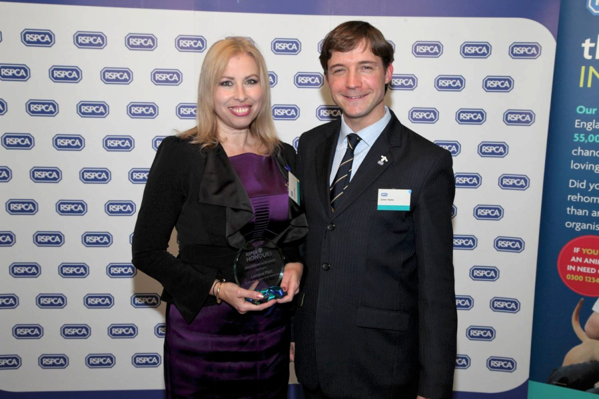 Award: Lorraine Platt with Dr James Yeates