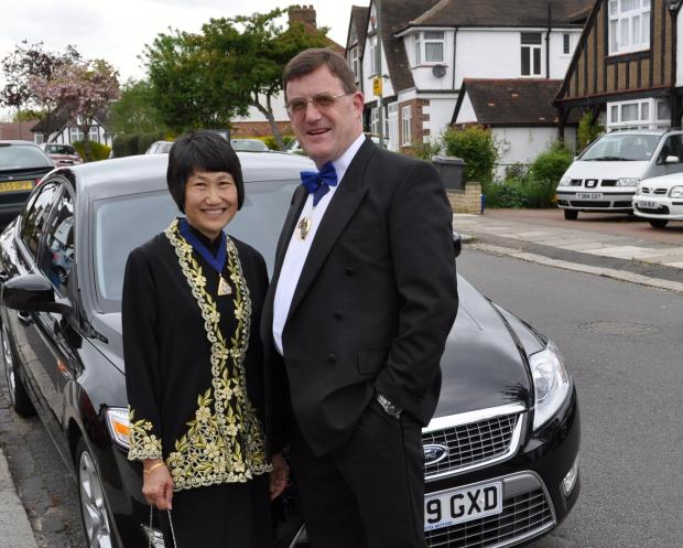 This Is Local London: Hugh and his wife Susan, when he was deputy mayor in 2010