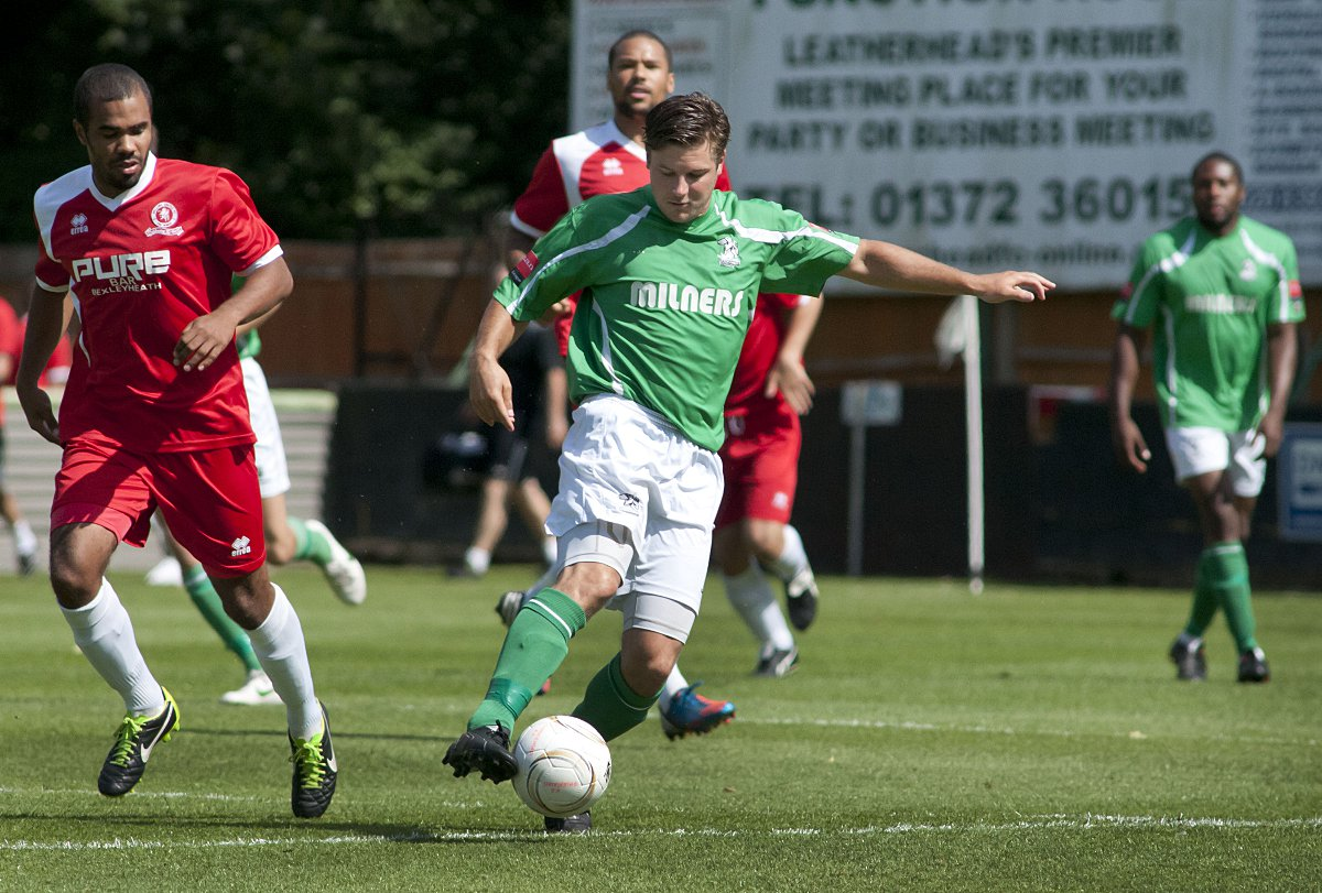 Opener: Kev Terry got Leatherhead's first goal against Ramsgate