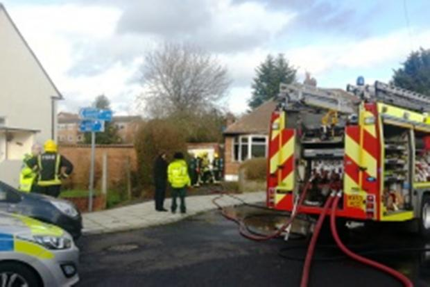 Closed down: firefighters were called to the Parkfield Close home in January