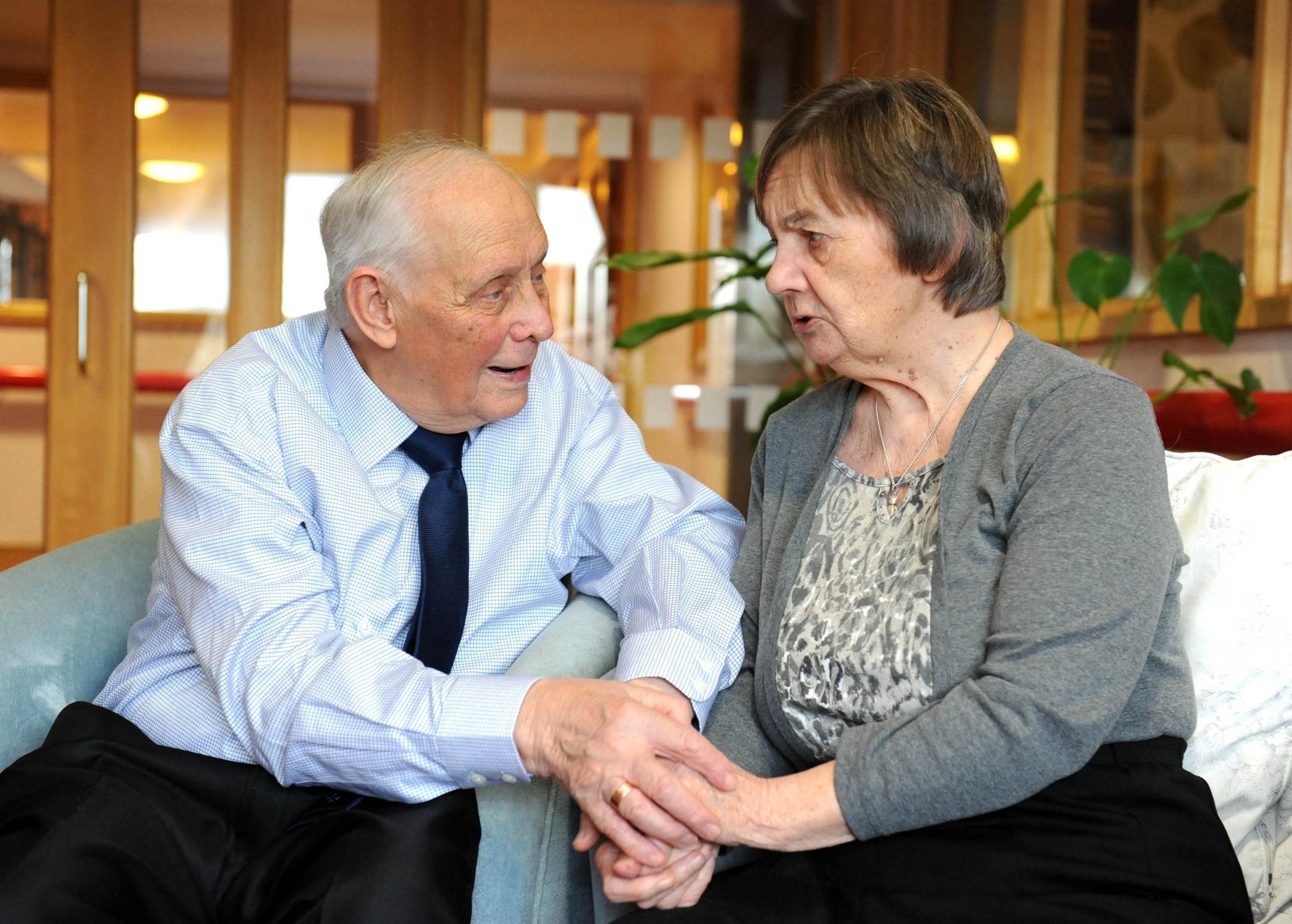 50 first dates: Doting husband visits wife in care home each day knowing she may not remember him