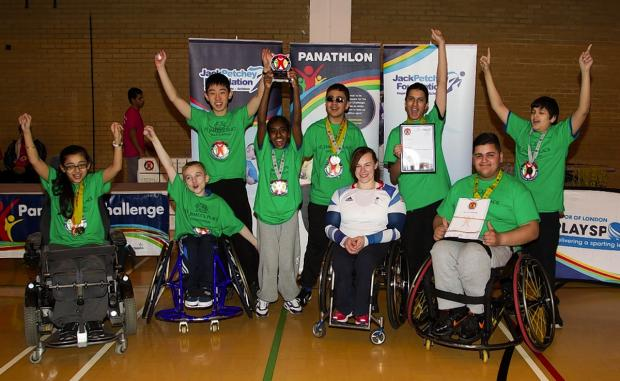 Disabled children from Harrow won in the Champions final of the North London Panathlon Challenge