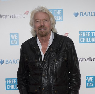 Richard Branson's space endeavour was inspired by a phone-in on chil