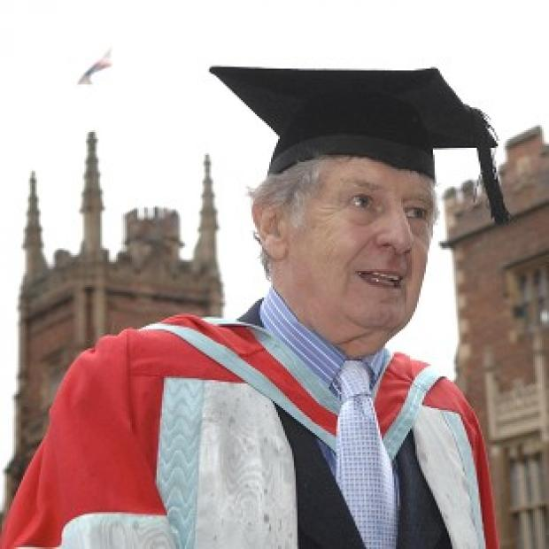 This Is Local London: James 'Jimmy' Ellis when receiving an honorary degree at Queen's University in Belfast.