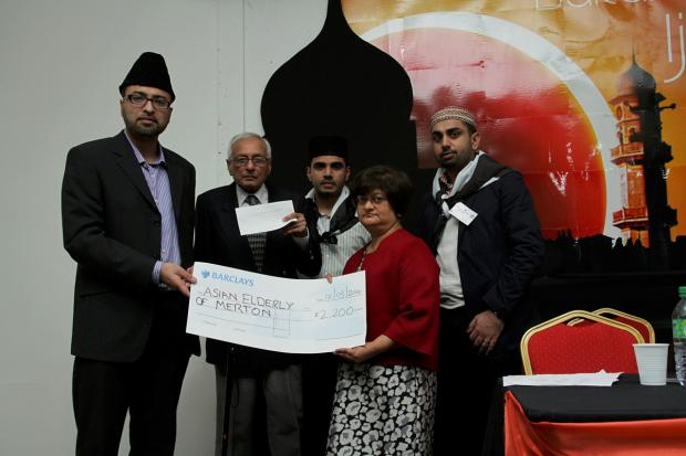 This Is Local London: AMYA UK present a cheque to Asian Elderly