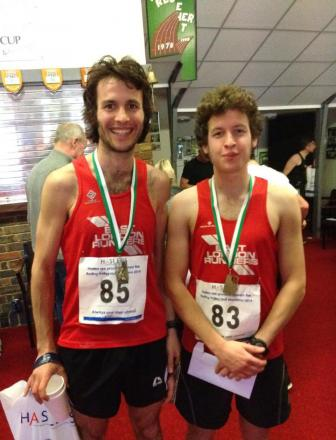 Euan Brown (right) won the Wanstead Flats 5km parkrun on Saturday.