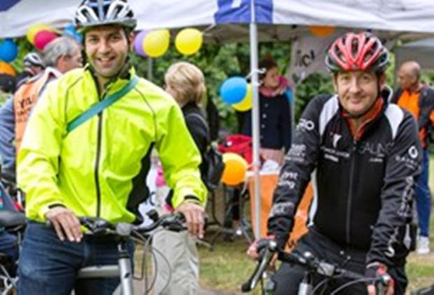 Cycle enthusiasts: council leader Julian Bell, right, and cabinet colleague Bassam Mahfouz