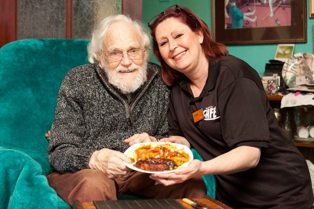 Lorraine George brings John Simmonds his favourite bangers and mash.