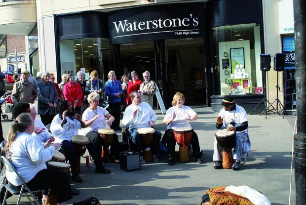 This Is Local London: The Gary Mason Drummers entertaining the crowds