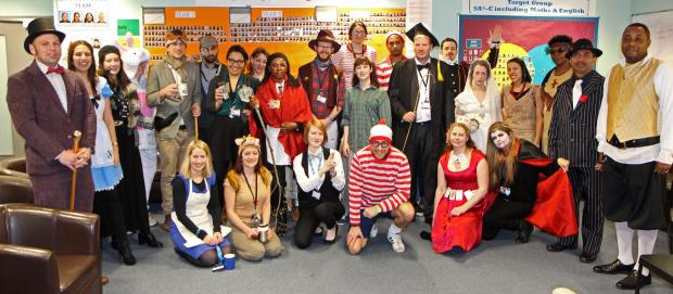 Staff at Park View school dressed up as some of their favourite literary characters