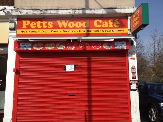 No service today - Petts Wood Cafe is closed