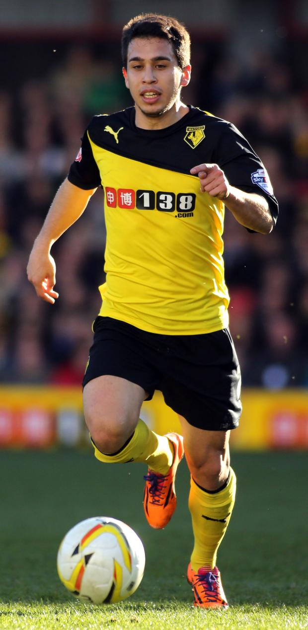 This Is Local London: Cristian Battocchio opened Watford's account. Picture: Action Images