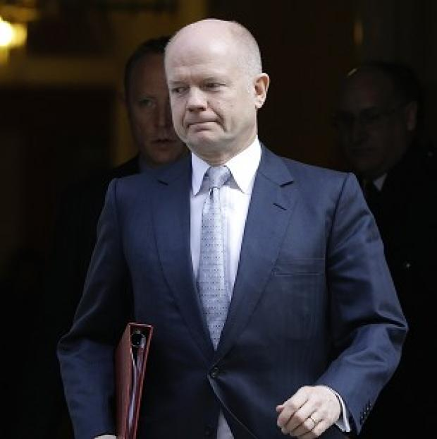 "This Is Local London: Foreign Secretary William Hague denounced the Crimea referendum as a ""mockery of proper democratic practice"""