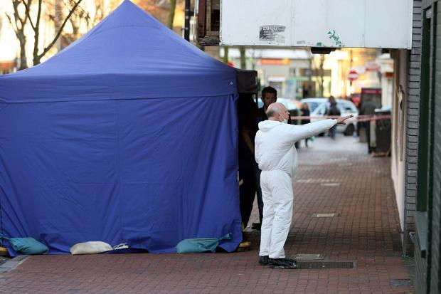 This Is Local London: Forensics officers at the scene near Norwood Junction station on Saturday