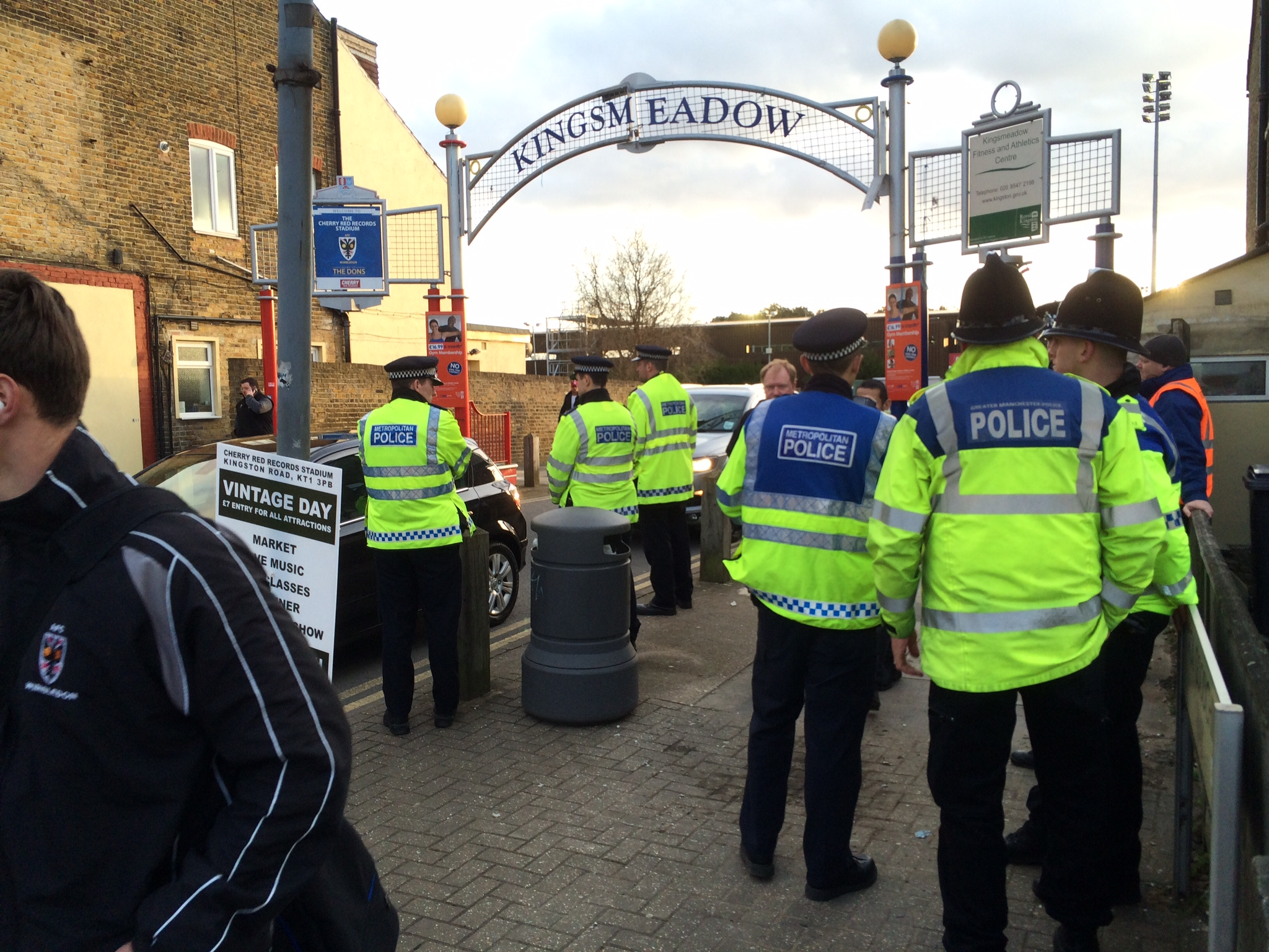 Police appeal for witnesses to 40-50 fan brawl before last month's AFC Wimbledon v Bury game