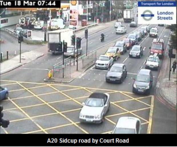 Traffic light failure in Sidcup leads to delays