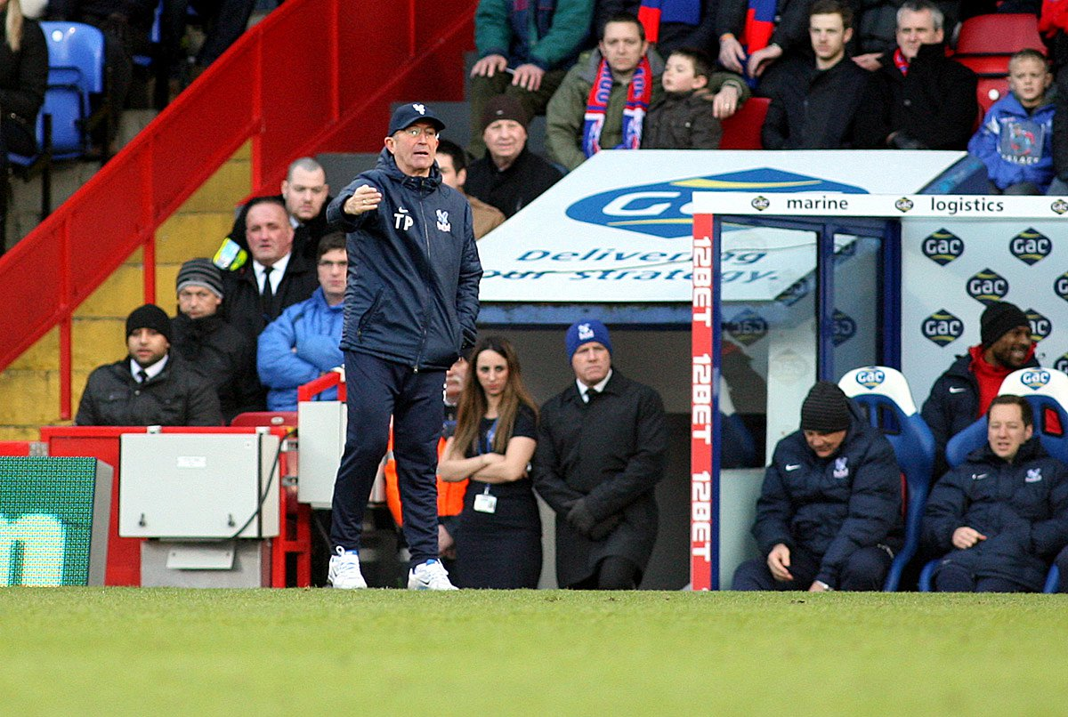 On your own: Tony Pulis knows life in the technical area can be lonely and emotional