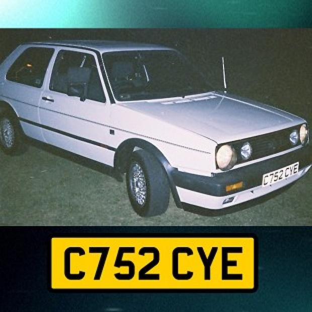 This Is Local London: Undated handout photo issued by Avon and Somerset Police of a white VW Golf GTi hardtop, registration C752 CYE, police investigating the murder of university graduate Melanie Hall nearly 20 years ago are to make a new appeal for information on the BBC Cri