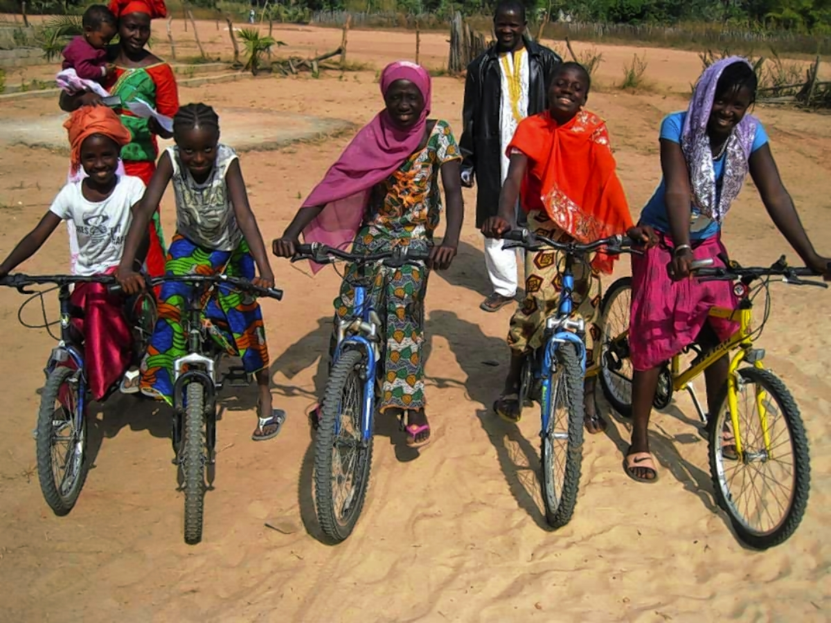 Re-Cycle bikes in use in Gambia