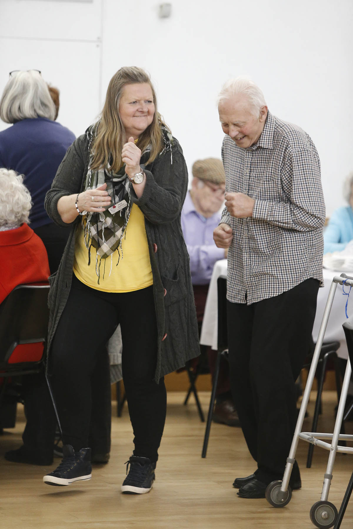 Older people show their moves