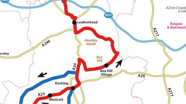 The stretch through Leatherhead announced today