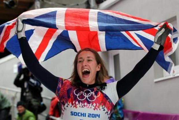 Winter Olympic hero Lizzy Yarnold will be coming to West Kingsdown today on her victory bus tour.
