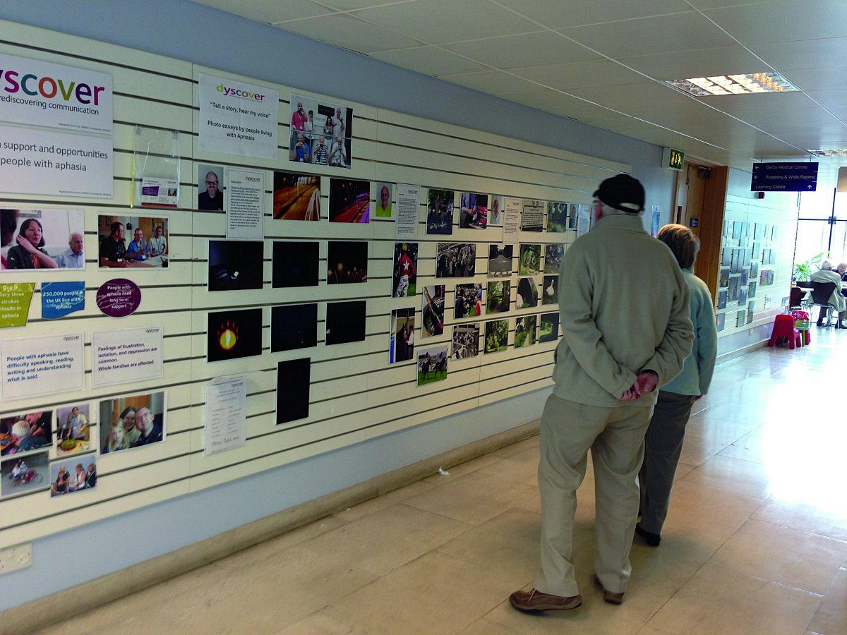 The work of members of Dyscover is being exhibited at the Ebbisham Centre